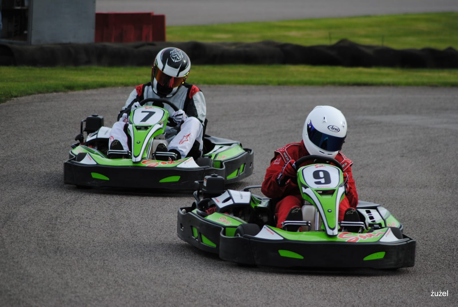 People go-carting on the course at Sutton Circuit