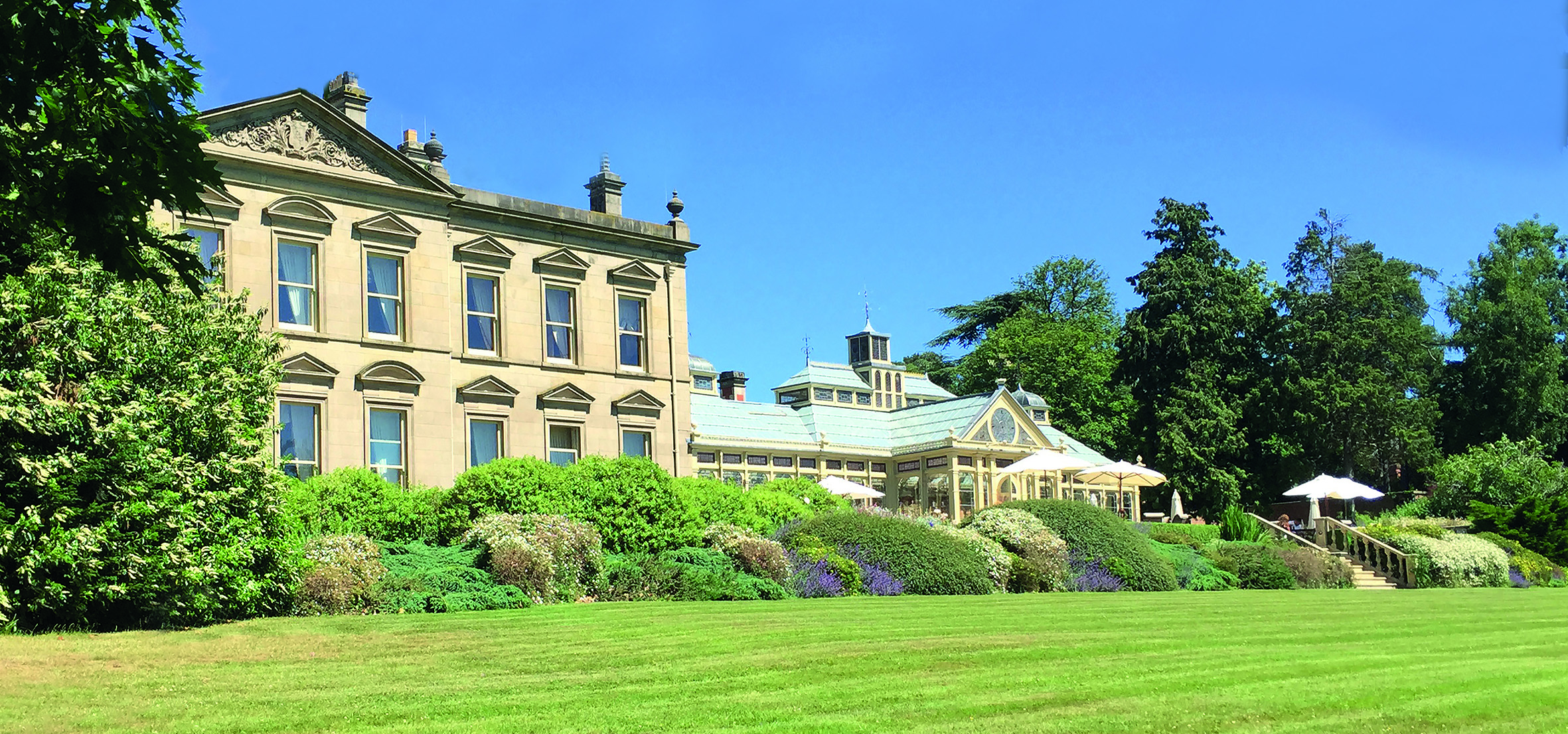 The outside of Kilworth House facing out on to the gardens