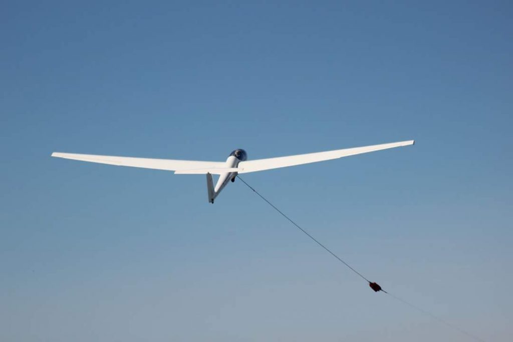 An in air glider plane at the Gliding Centre