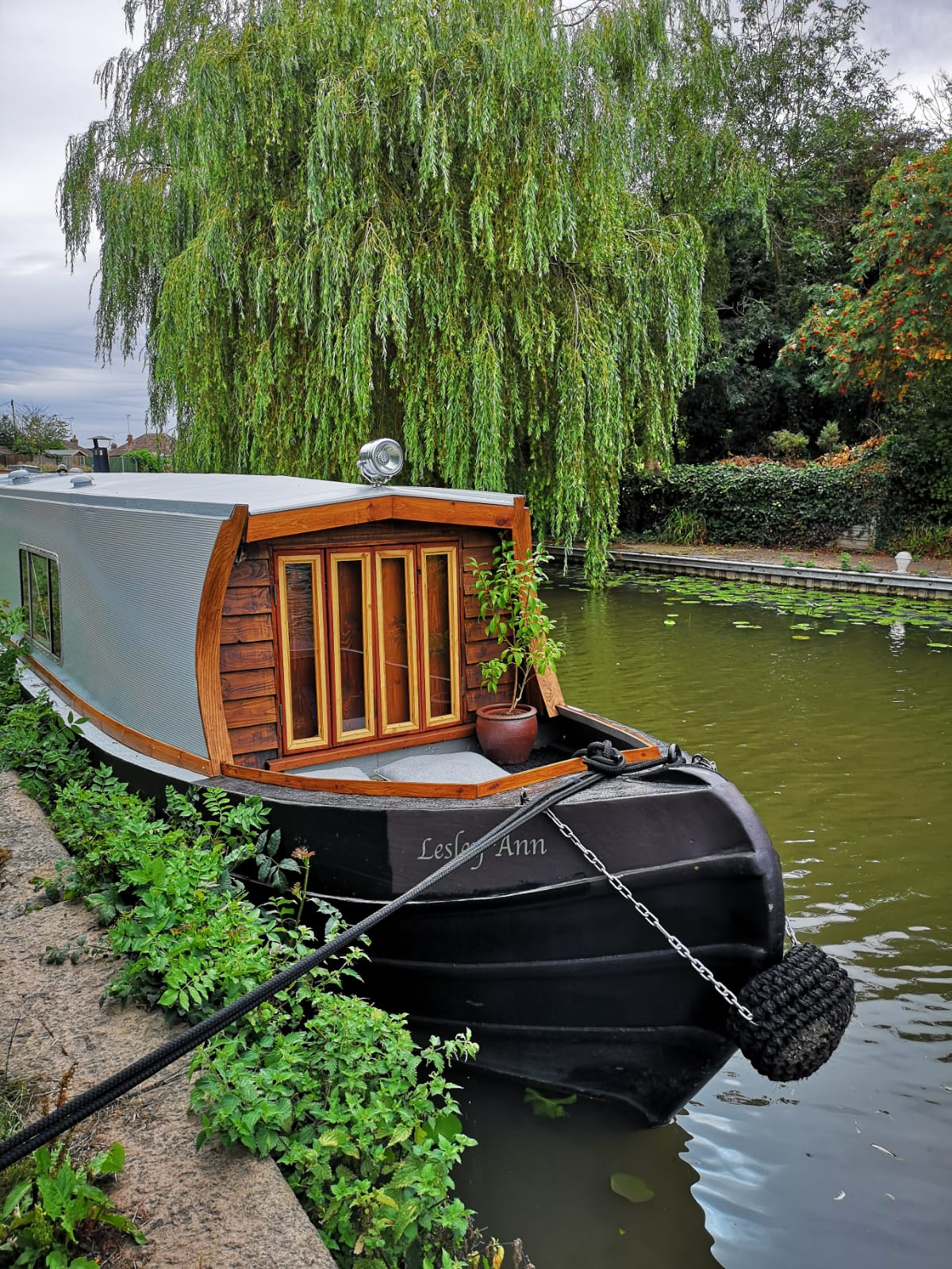 'Boutique Narrowboats' accommodation boat on the canal