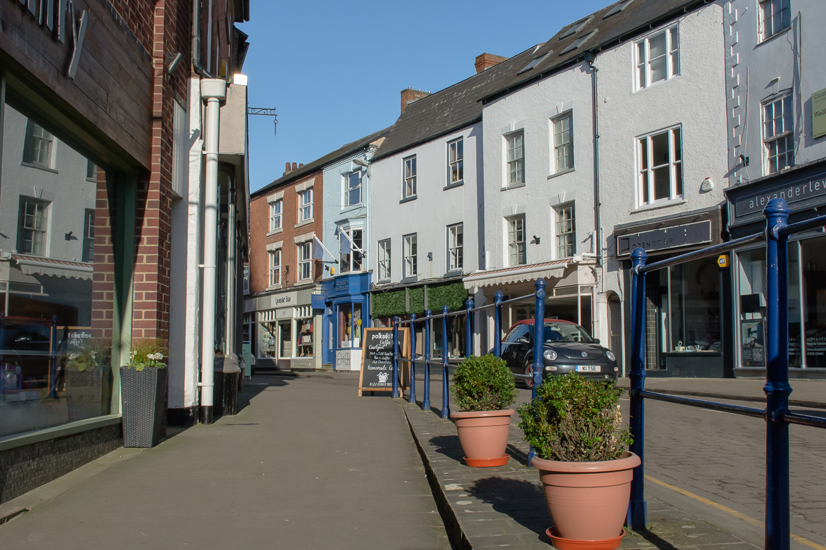 Church street is a street lined with independent retailers in Market Harborough