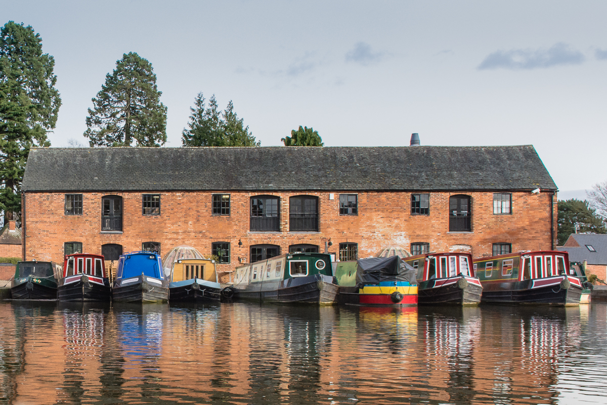 The Union Wharf, a canal boat docking point in Market Harborough