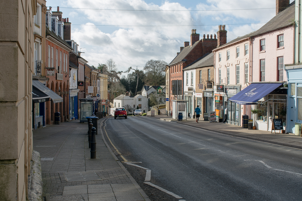 The view down Lutterworth High Street