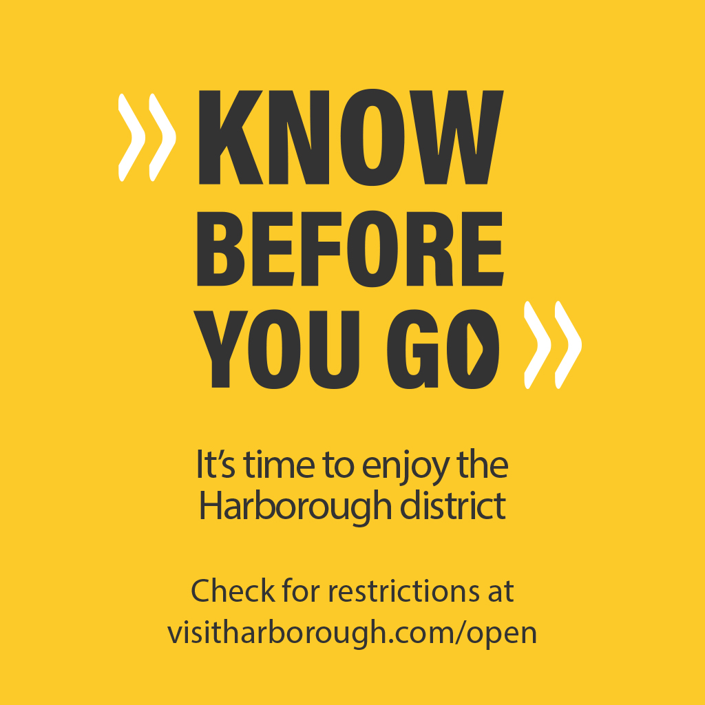Yellow graphic for the 'Know Before you Go' campaign