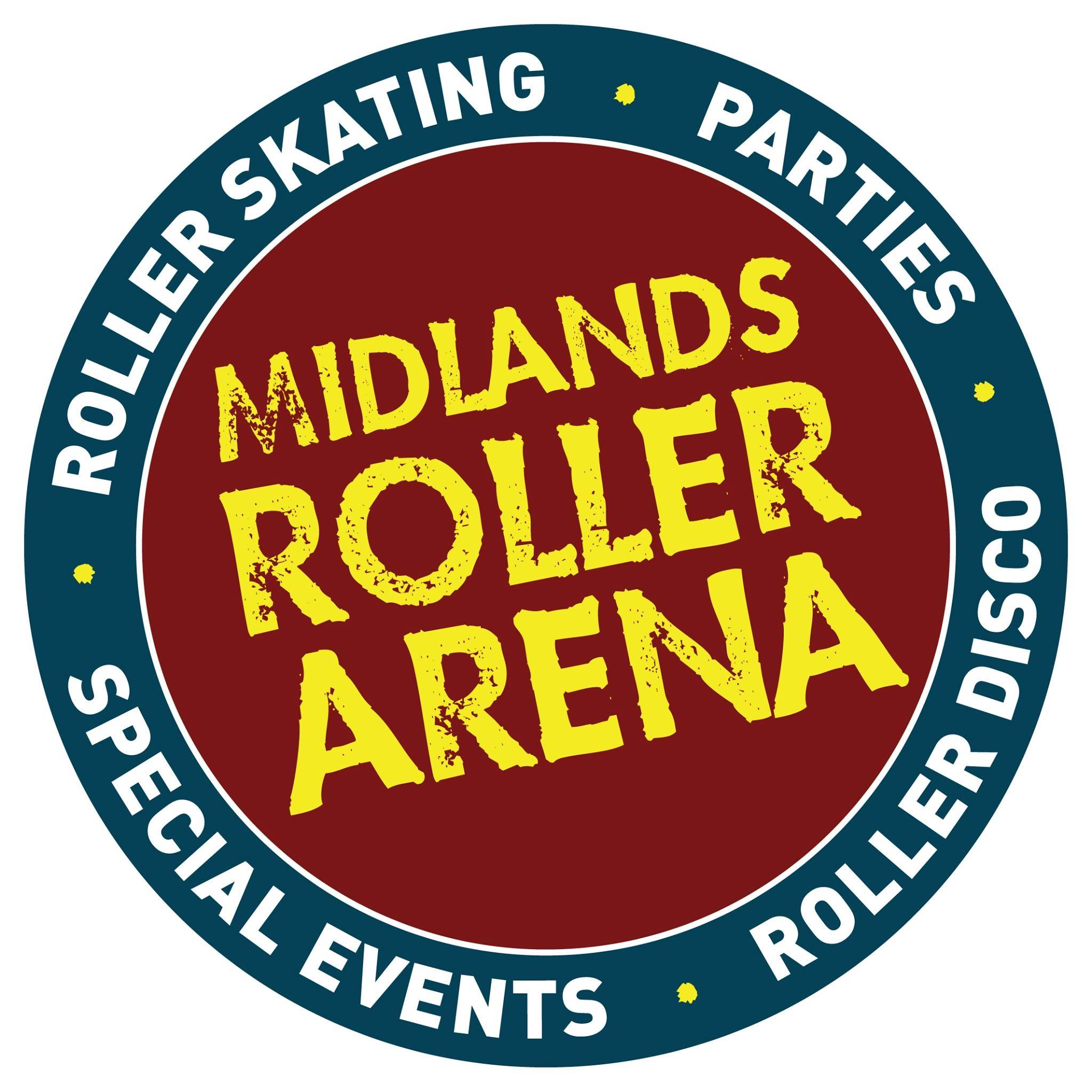 The circular logo for the Midland Roller Arena