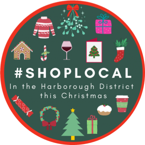 A colourful logo to encourage people to shop local this Christmas